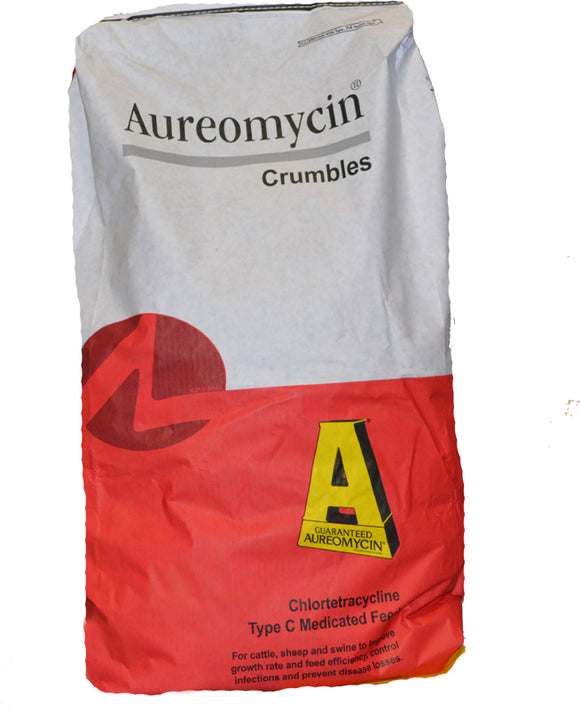 Aureomycin Crumbles, 4%, 50lb (Prescription Required)
