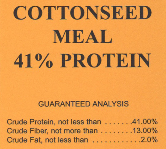 G&D Cottonseed Meal 41% Protein, 50lb