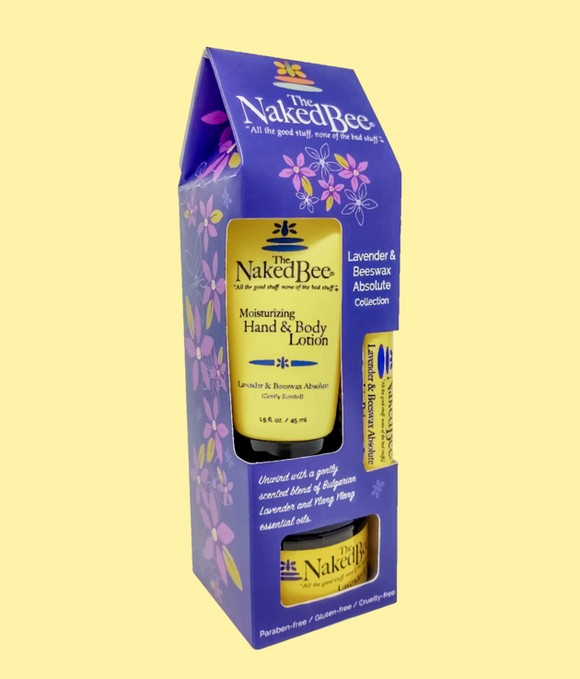 Naked Bee Gift Set - Lavender & Beeswax Absolute Gift Collection