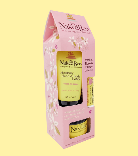 Naked Bee Gift Set - Vanilla Rose & Honey Gift Collection