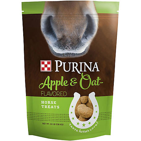 Purina Horse Treats Apple and Oat-Flavored