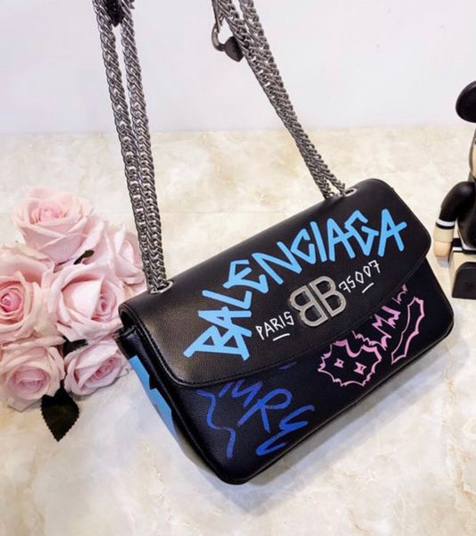Balenciaga graffiti bag