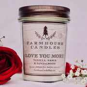 Love You More Candle
