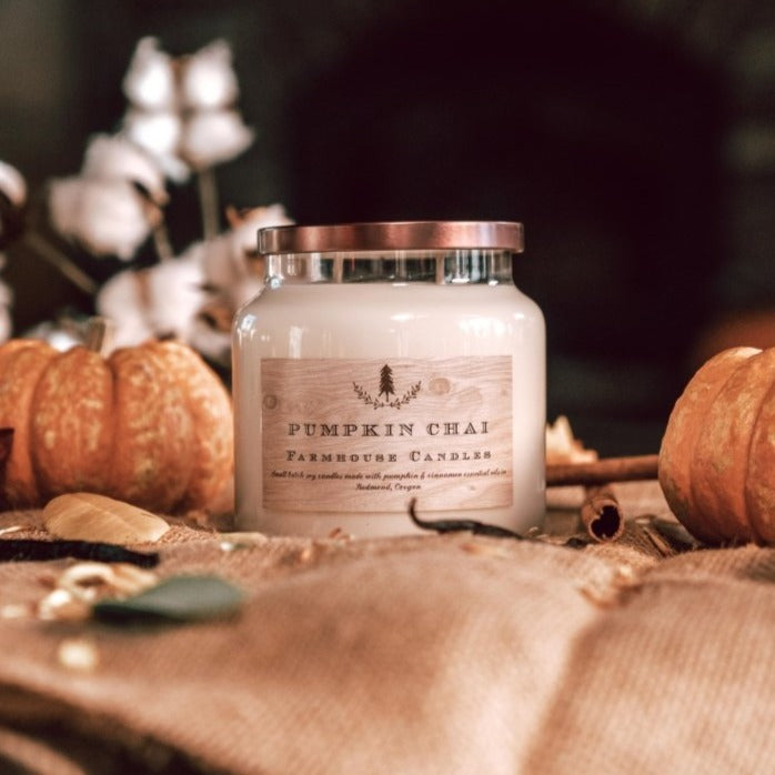 Pumpkin Chai Candle - Farmhouse Candle Shop
