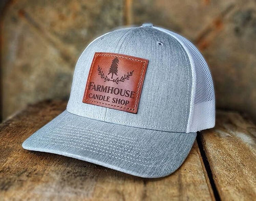 Farmhouse Candle Shop Heather gray and white Hat