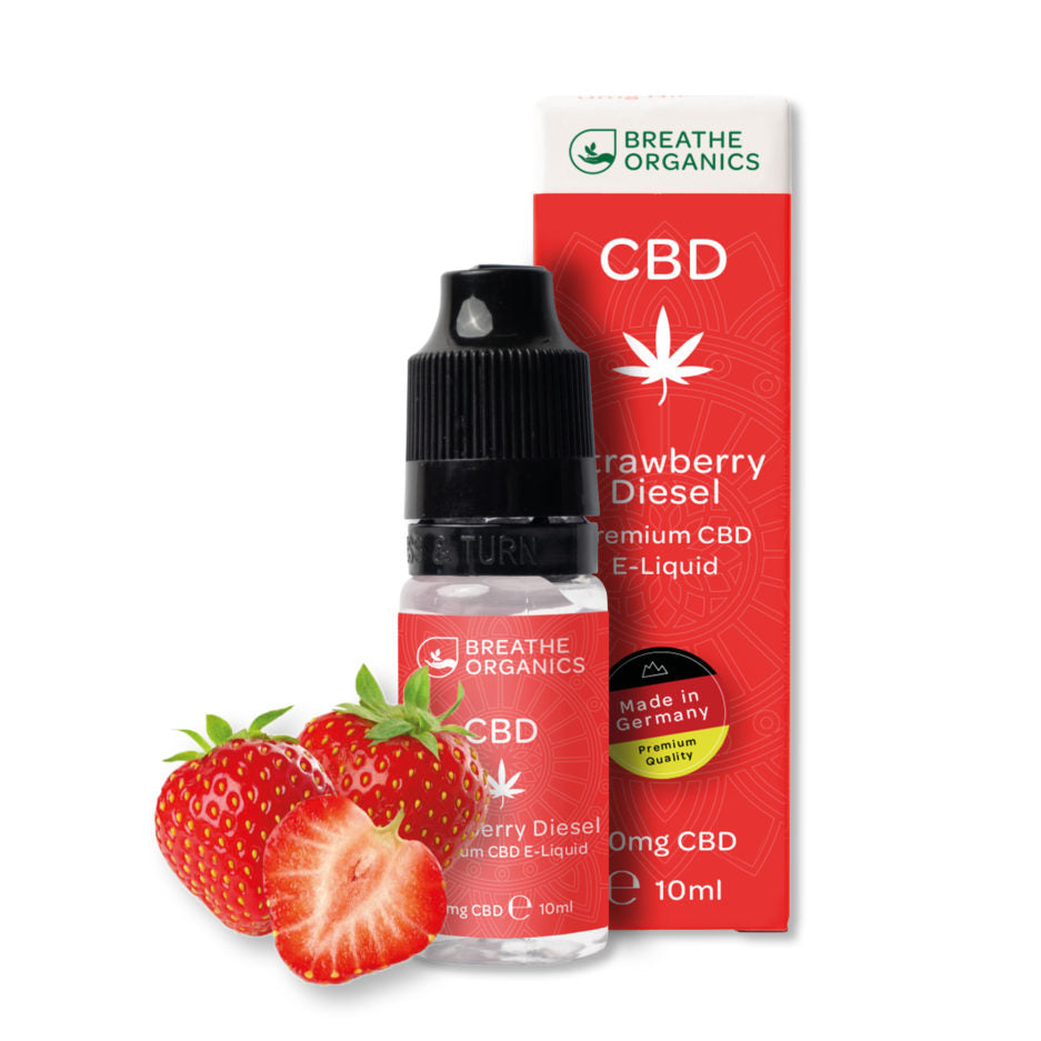 CBD E-Liquid (30-600mg) - Breathe Organics - Strawberry Diesel