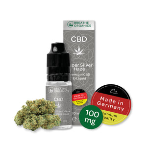 CBD E-Liquid (100-600mg) - Breathe Organics - Super Silver Haze