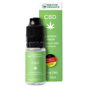 CBD E-Liquid (30-600mg) - Breathe Organics - Lemon Haze