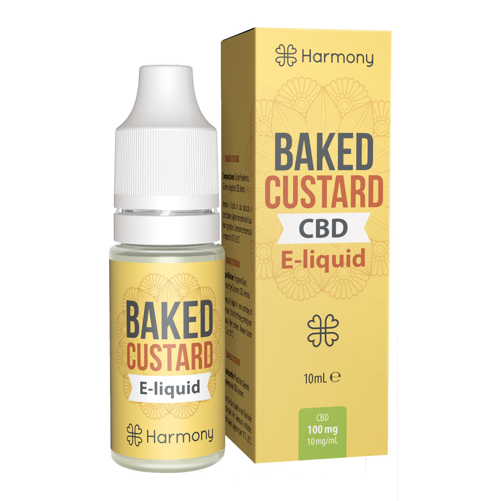 CBD E-Liquid (100-600mg) - Harmony - Baked Custard