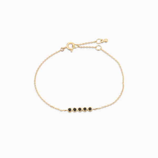 Golden Grace Black Spinel Bracelet