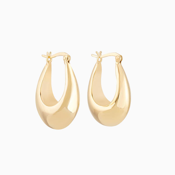 Golden Drop Hoops