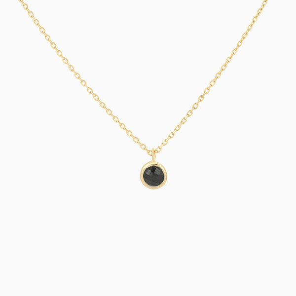 Golden Black Spinel Necklace