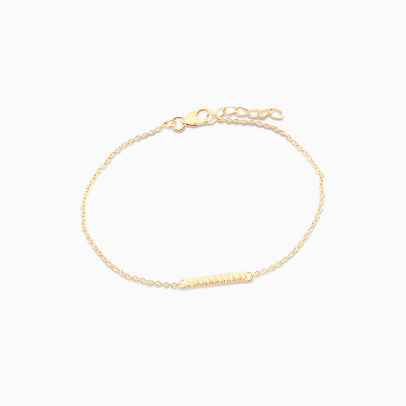 Golden Stripe Bar Bracelet
