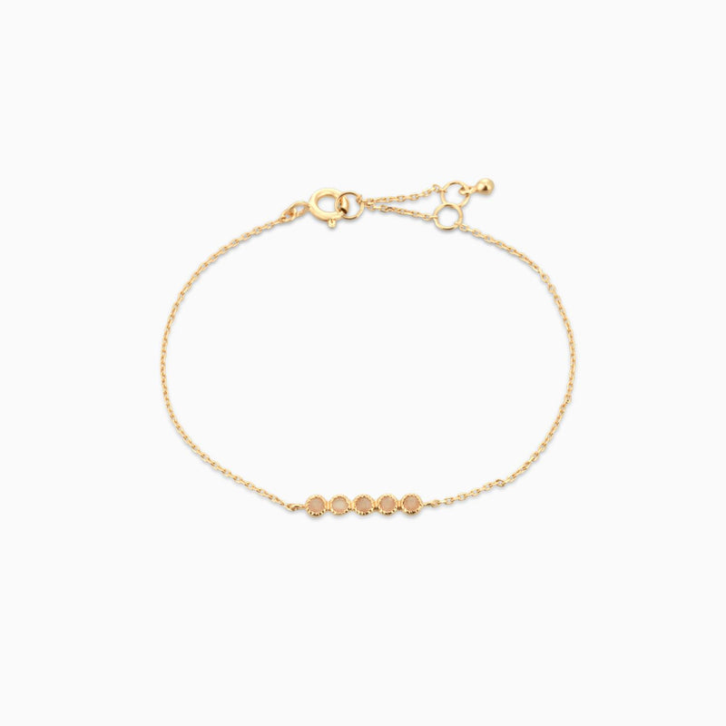 Golden Grace Peach Moonstone Bracelet