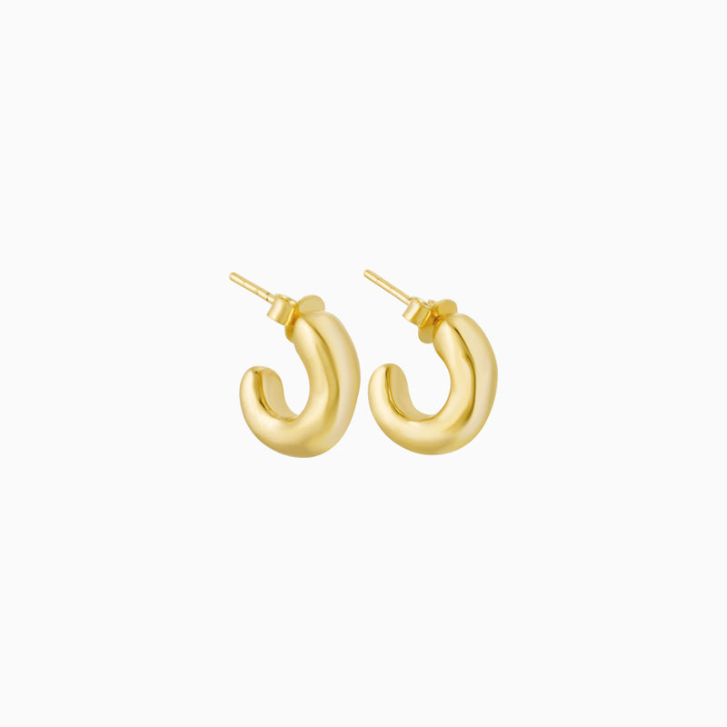 Golden Chunky Hoops