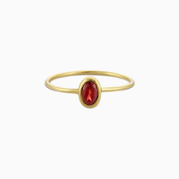 Oval Facet  Garnet