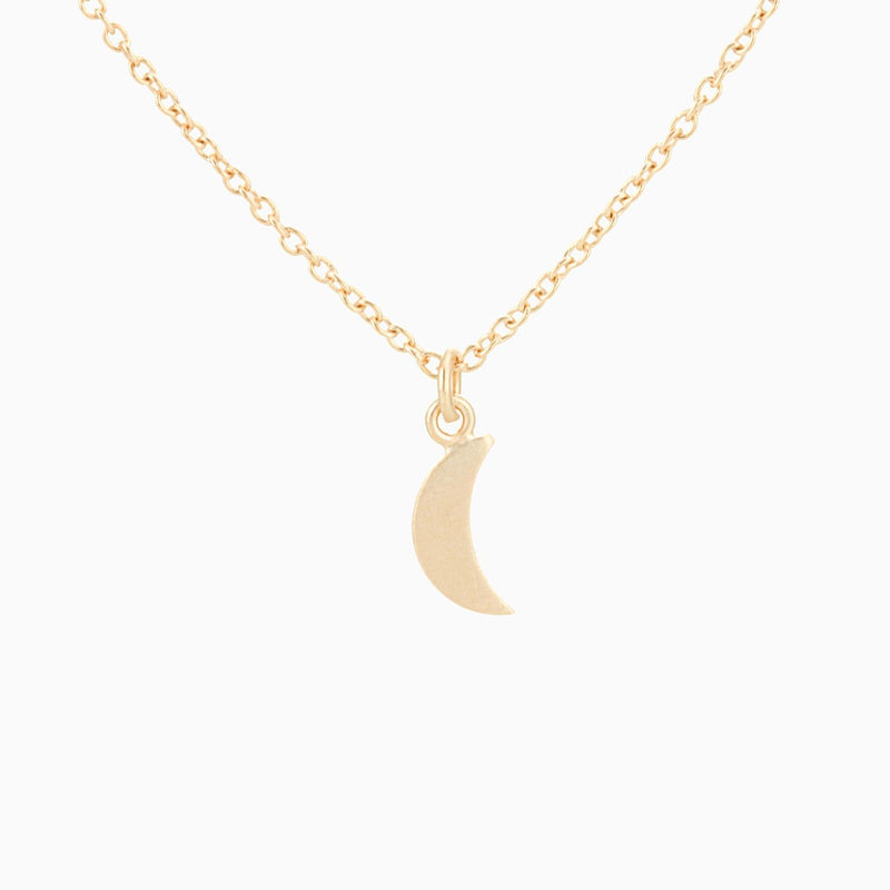 Golden Satin Moon (Necklace)