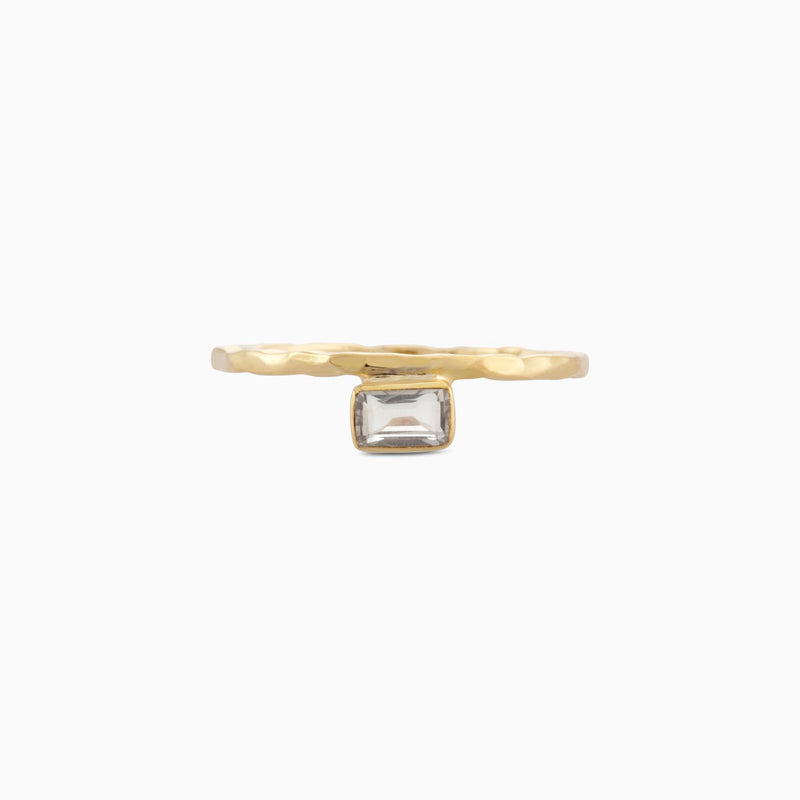 Square Green Amethyst Ring