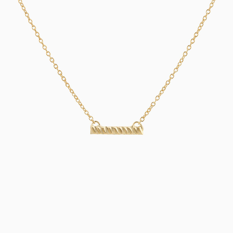 Golden Stripe Bar Necklace