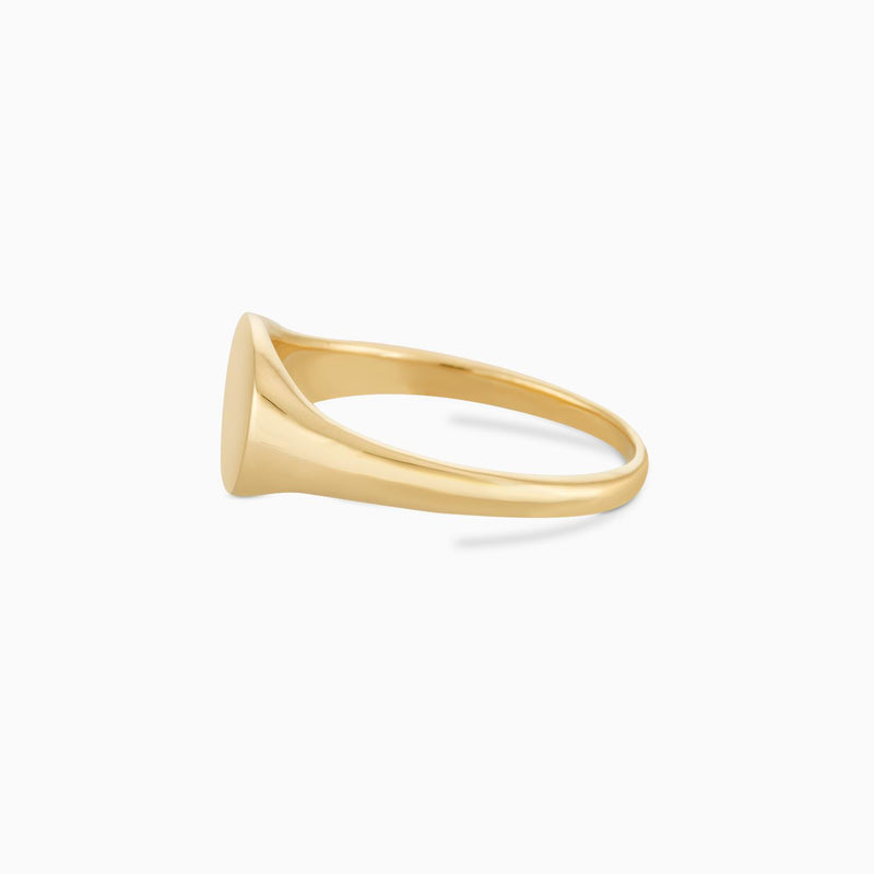 Golden Oval Signet Ring