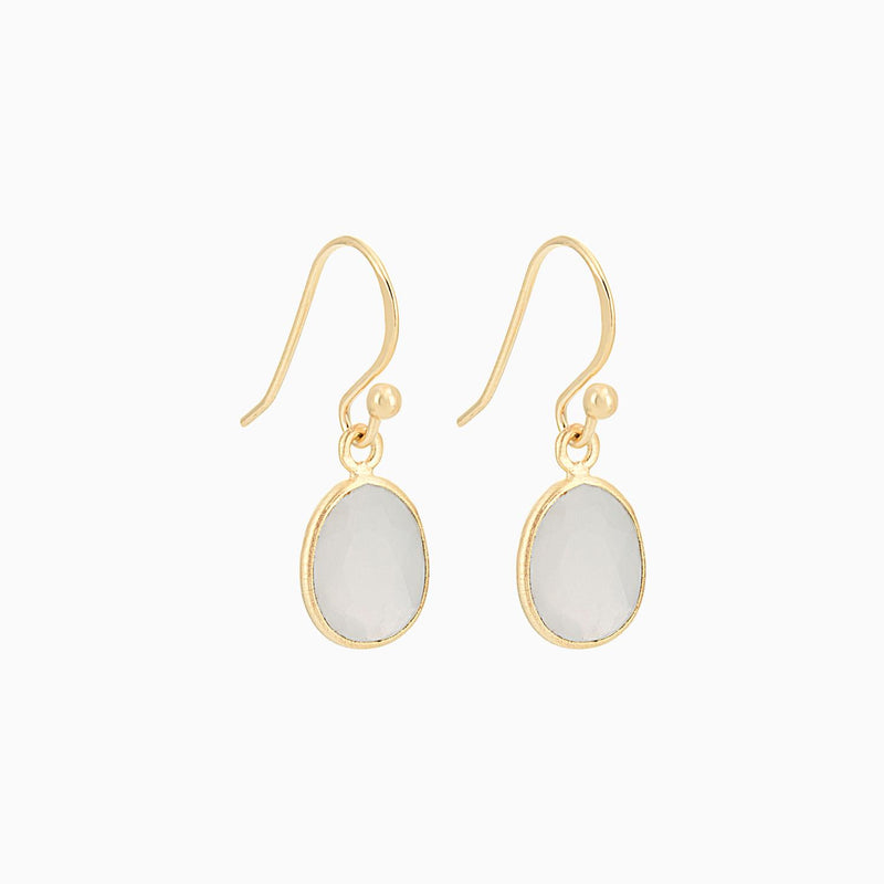 Golden Satin facet White Moonstone