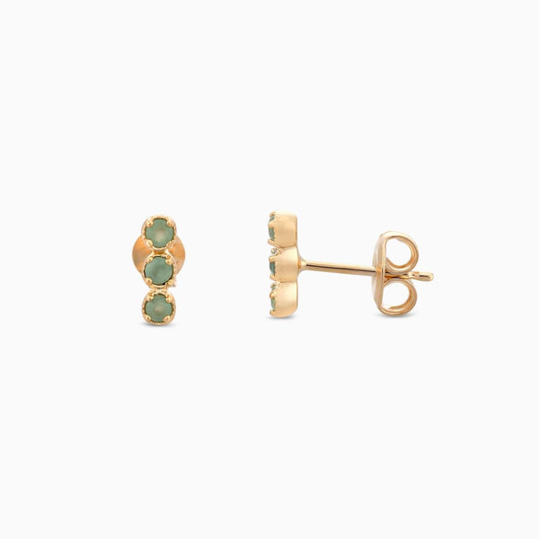 Golden So Green Aventurine Studs