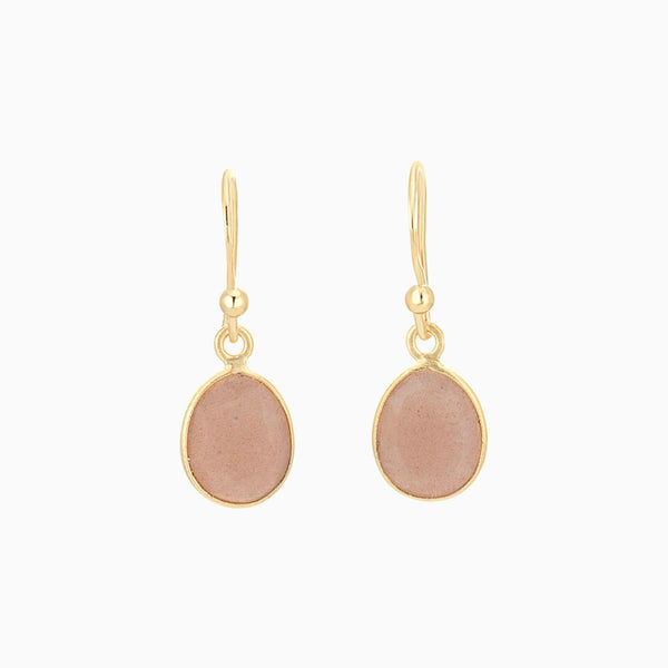 Golden Satin facet Peach Moonstone