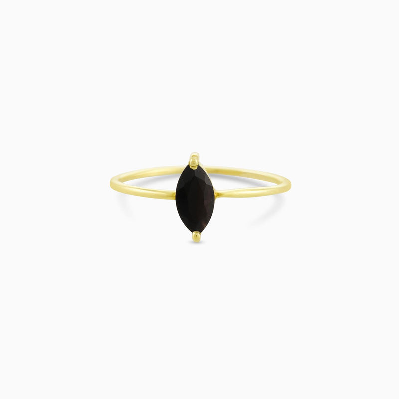 Black Onyx Cut Ring