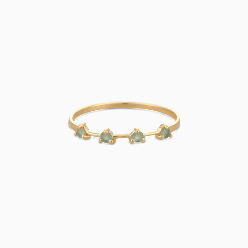 Golden Grace Green Aventurine Ring