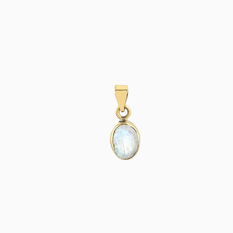 Oval Facet Rainbow Moonstone