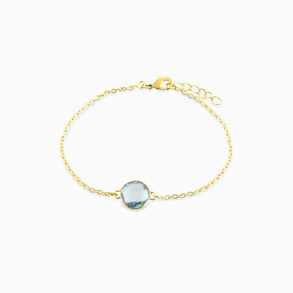 Circle facet Blue Topaz (Bracelet)