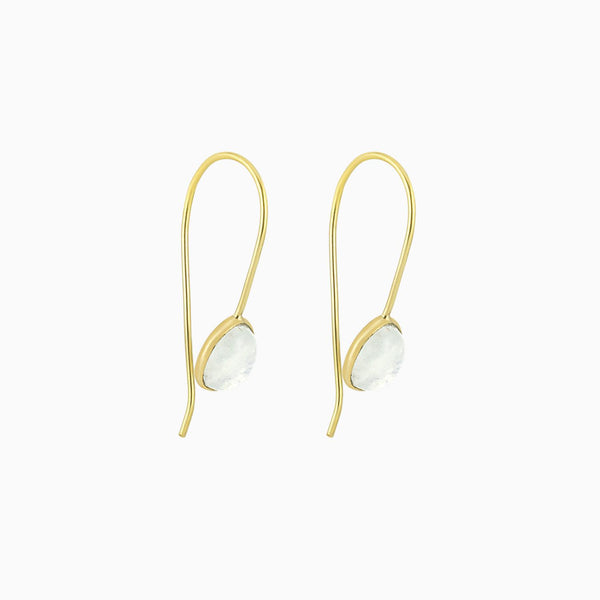 Oval Moonstone(Earrings)