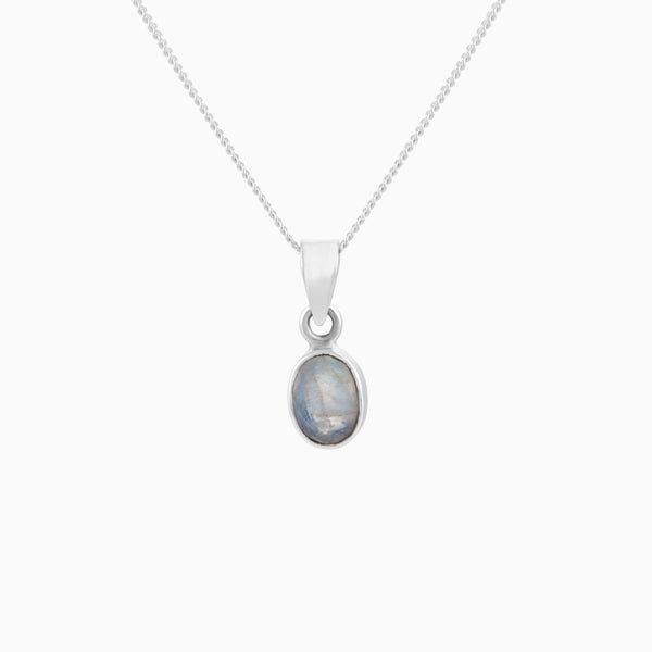 Oval Facet Moonstone (Pendant)