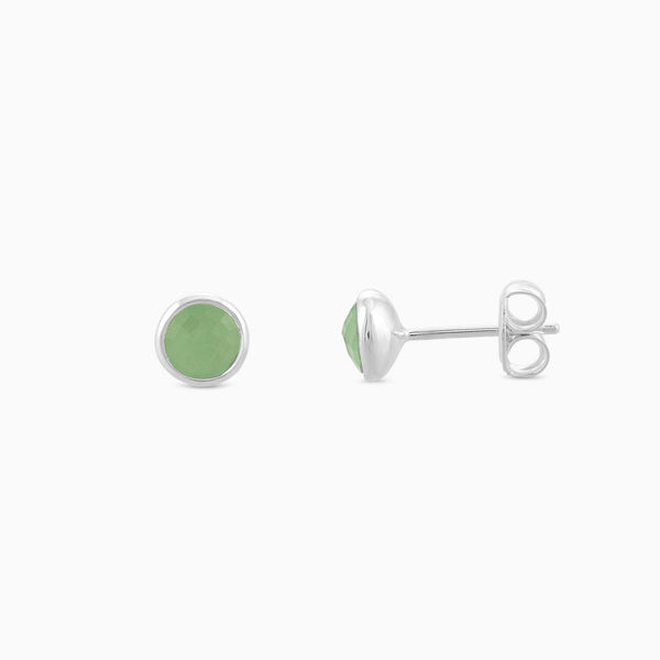Green Aventurine 6mm Studs