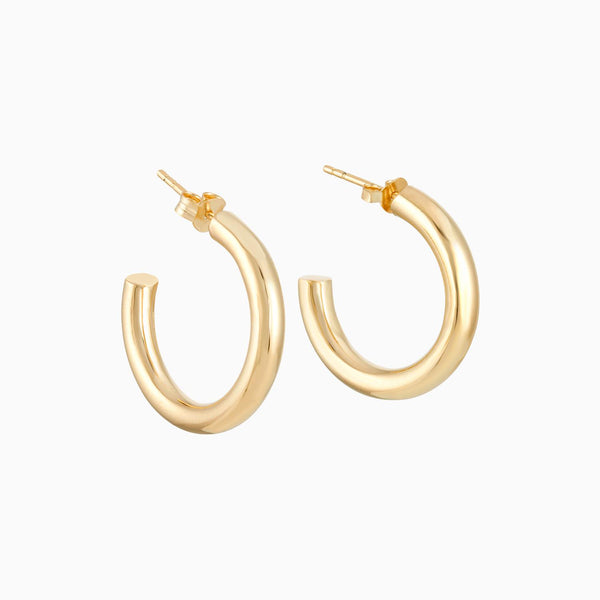Golden Tube Hoops 25/4mm