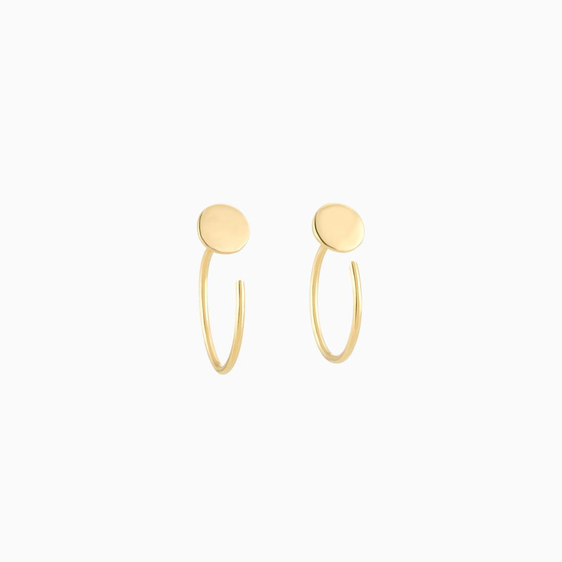 Golden Nail Earrings