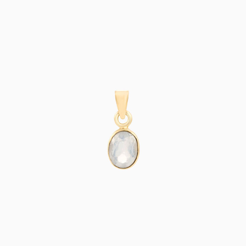 Facet Moonstone 14K (Pendant)