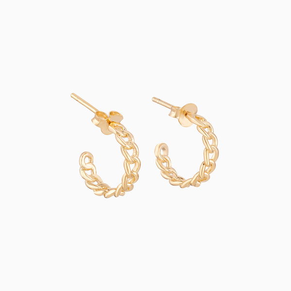 Golden Chain Hoops