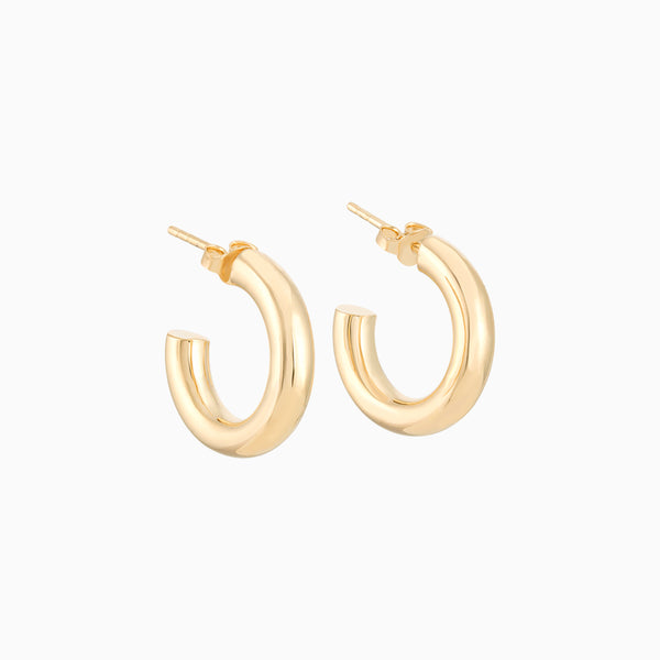 Golden Tube Hoops 20/4mm