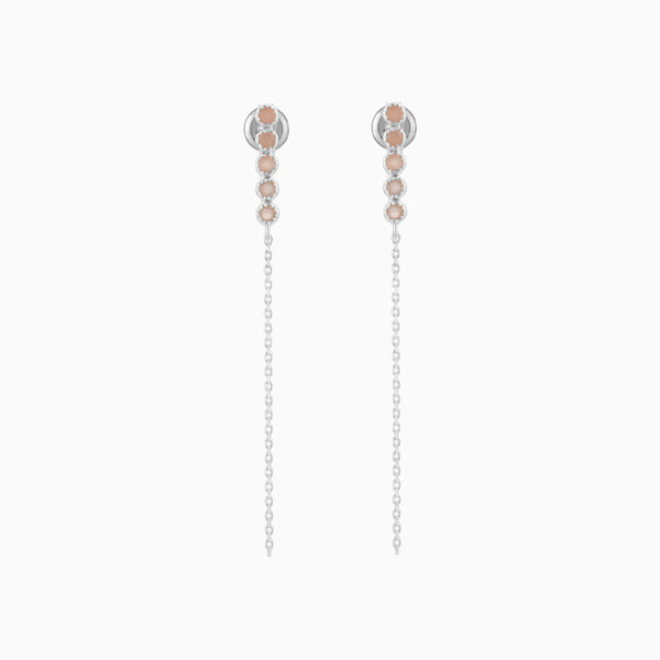 Grace Peach Moonstone Studs