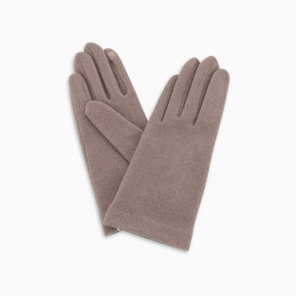 Classic Wool Touch Gloves Taupe
