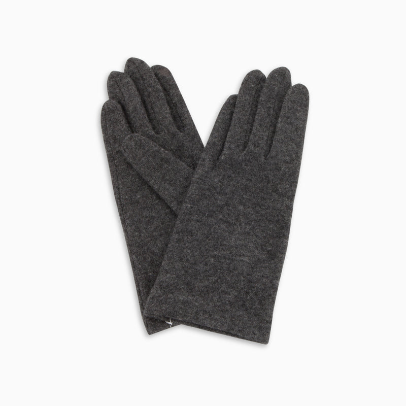 Classic Wool Touch Gloves Charcoal