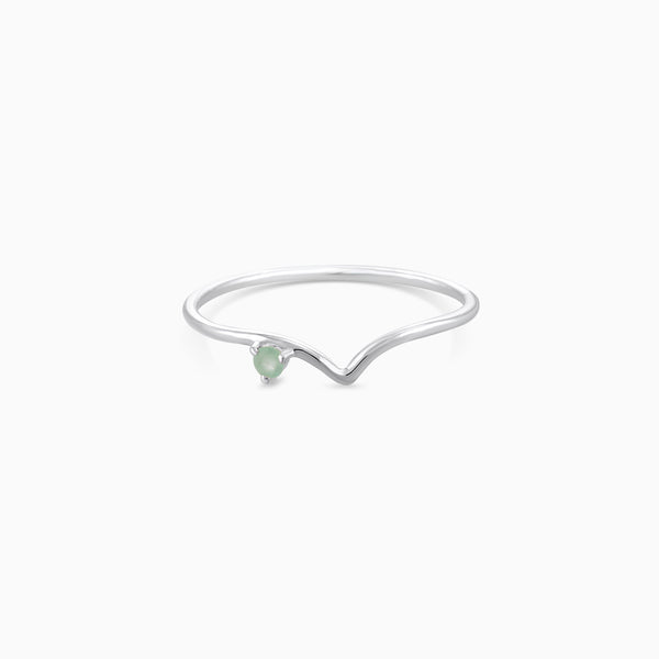 V Ring Green Aventurine