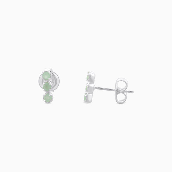 SO Green Aventurine Studs