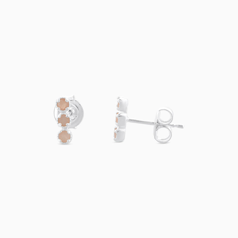 SO Peach Moonstone Studs