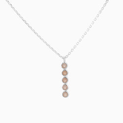 Grace Peach Moonstone Necklace
