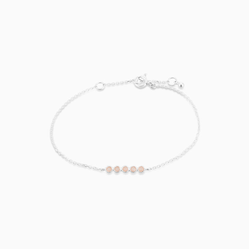 Grace Peach Moonstone Bracelet