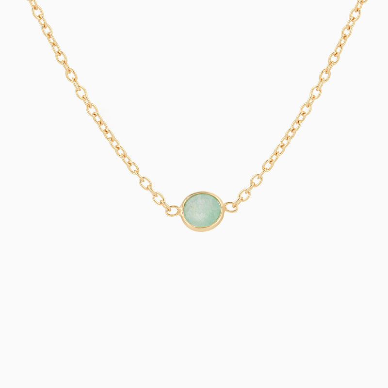 Golden Satin Green Aventurine (Necklace)