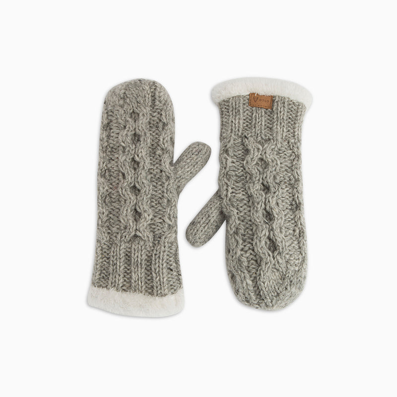 Chunky gloves Light Grey