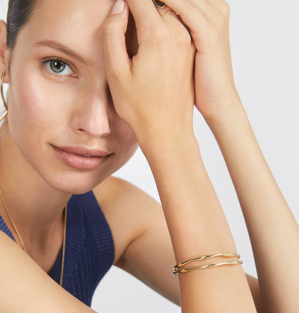 Golden Raindrop Bangle